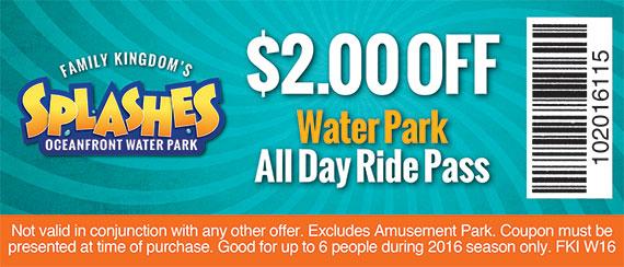 Beach water park discounts coupons